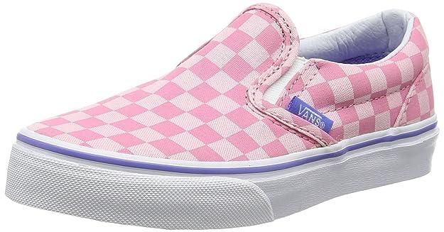 Vans - Classic Slip-on, Zapatillas para Niños, Rosa (Tonal Checker/Wild Rose/Wedgewood), 28 EU