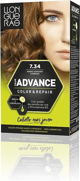 Llongueras Llong Color Advance 7.34 Rubio Dorado Cobrizo Coloración Permanente - 210 gr