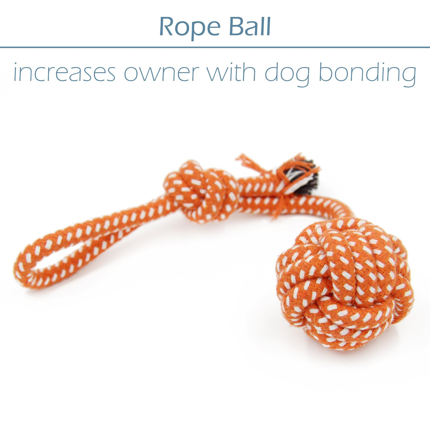 Small Dog Toys Set 6 Pack Ball Rope and Chew Toys for Small Dog Puppy by yotache (Image #4)