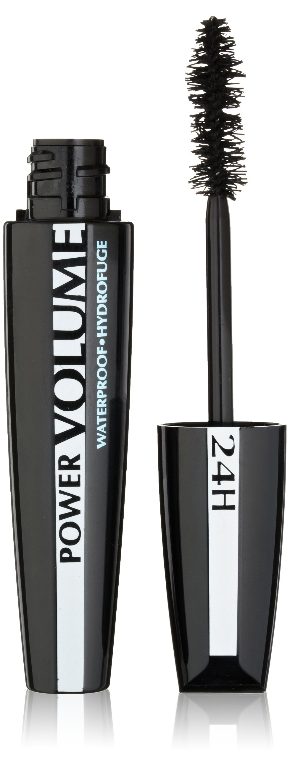 LOreal Paris Voluminous Power Volume 24H Waterproof Mascara, 696 Blackest Black, 0.33