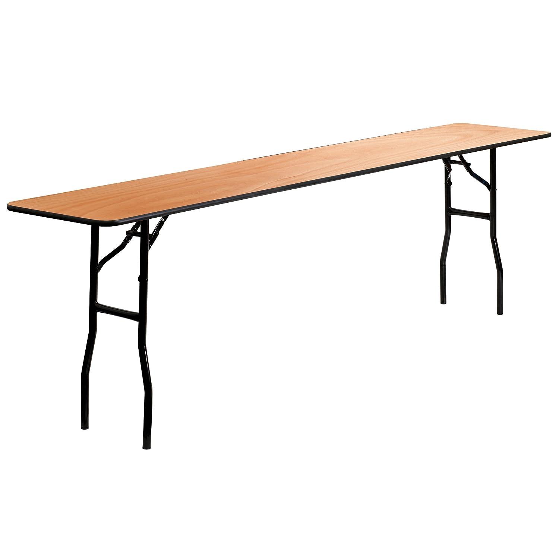 Amazon.com: Mesa rectangular plegable de madera de 18.0 x ...