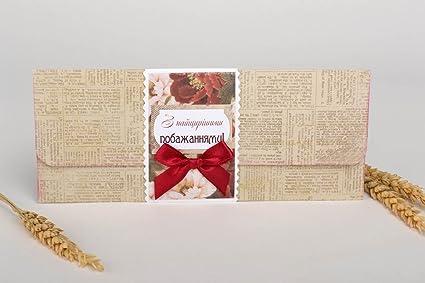 postal de agradecimiento artesanal con lazo postal de gratitud