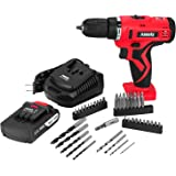 Anesty 20-Volt MAX Lithium-Ion Cordless Drill/Driver with 38 Piece Drill and Screwdriver Bit Accessory Set…