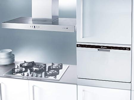 Candy - CDCP 6/E - Lavavajillas pequeño - Altura 43,8cm - 6 servicios - Clase A+ - Color Blanco