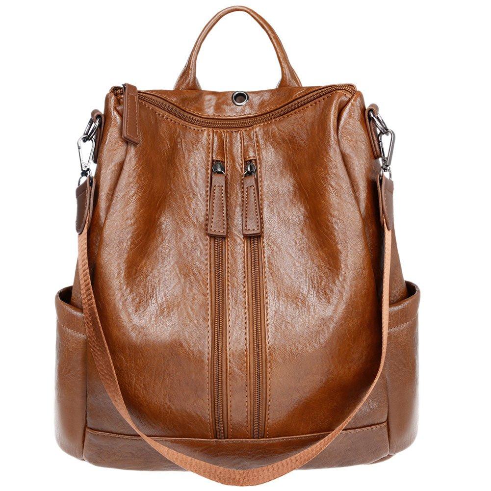 Womens Leather Backpack Fashion Handbag Shoulder bag for Ladies by Vintga
