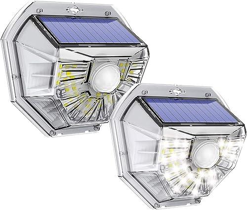 VOSONX Solar Lights Outdoor – Wireless Light Sensor Motion Sensor Light, 40 LEDs Solar Powered LED Wall Light, IP67 Waterproof Home Decor Security Lights for Outside, Backyard, Front Door 2 Pack