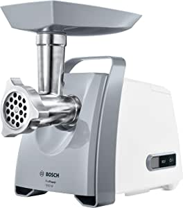 Bosch  1800W Meat Mincer With Attachments, White- MFW66020GB