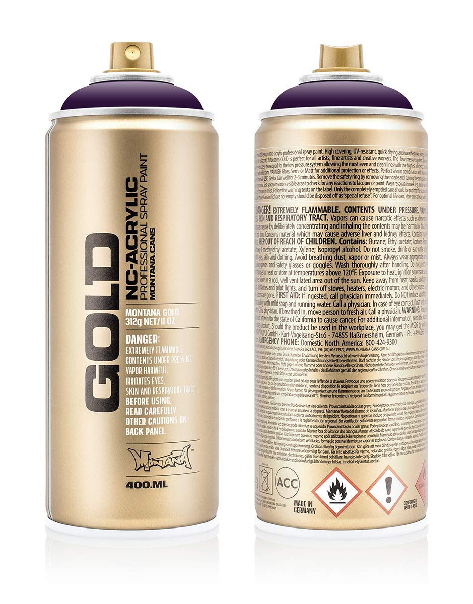 Montana Cans 284700 Spray Dose Gold 400ml, Gld400-4260-Black Purple