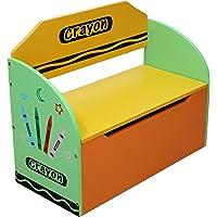 Kiddi Style les enfants bois Coffre à jouets multicolore et banc