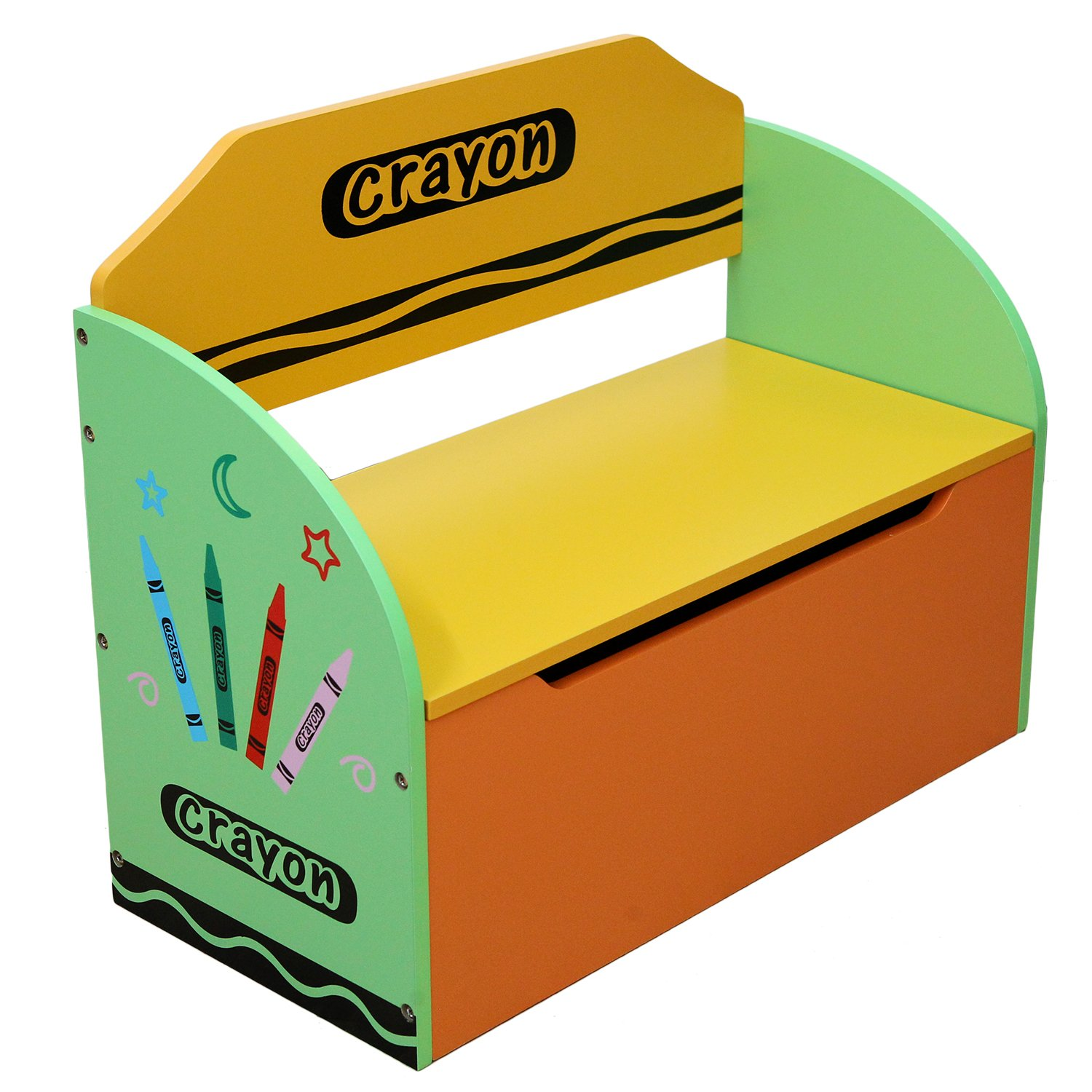 Kiddi Style Children's Wooden Toy Storage Box and Bench Bebe Style PCR1TB
