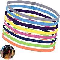OZUAR 8 PCS Sports Elastic Hair Bands Yoga Headband Sport Headbands Light