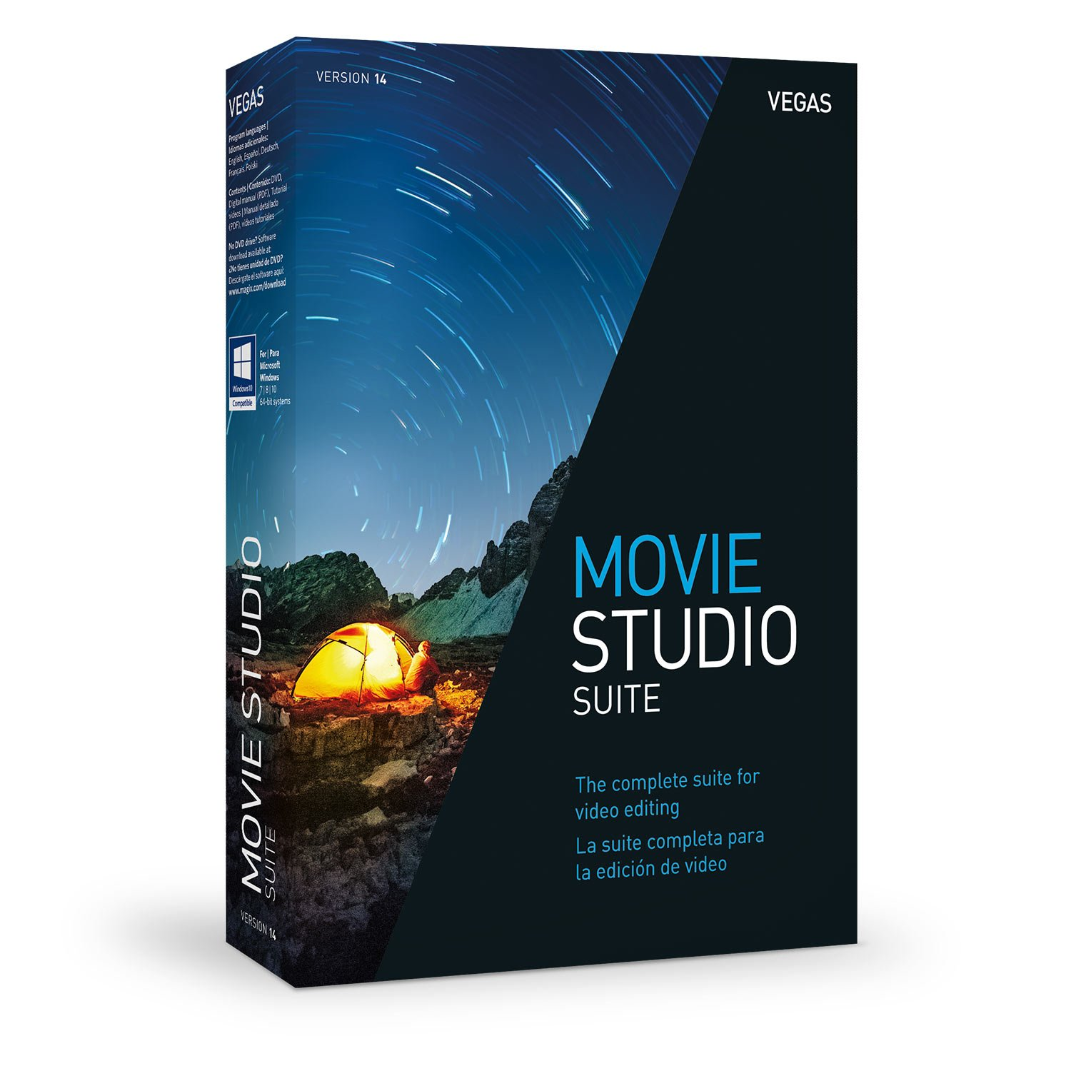 VEGAS Movie Studio 14 Suite - The complete suite for video editing by Vegas
