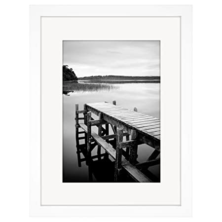30cm X 40cm White Picture Frame With Glass Front Made To Display