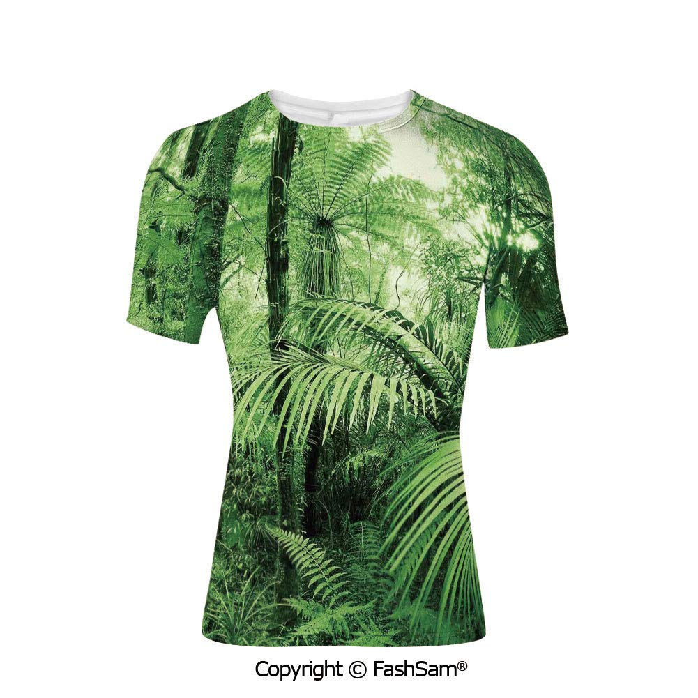 T Shirts Palm Tree Tops in Sunny Sky Relaxing Exotic Idyllic Nature Serene Scene