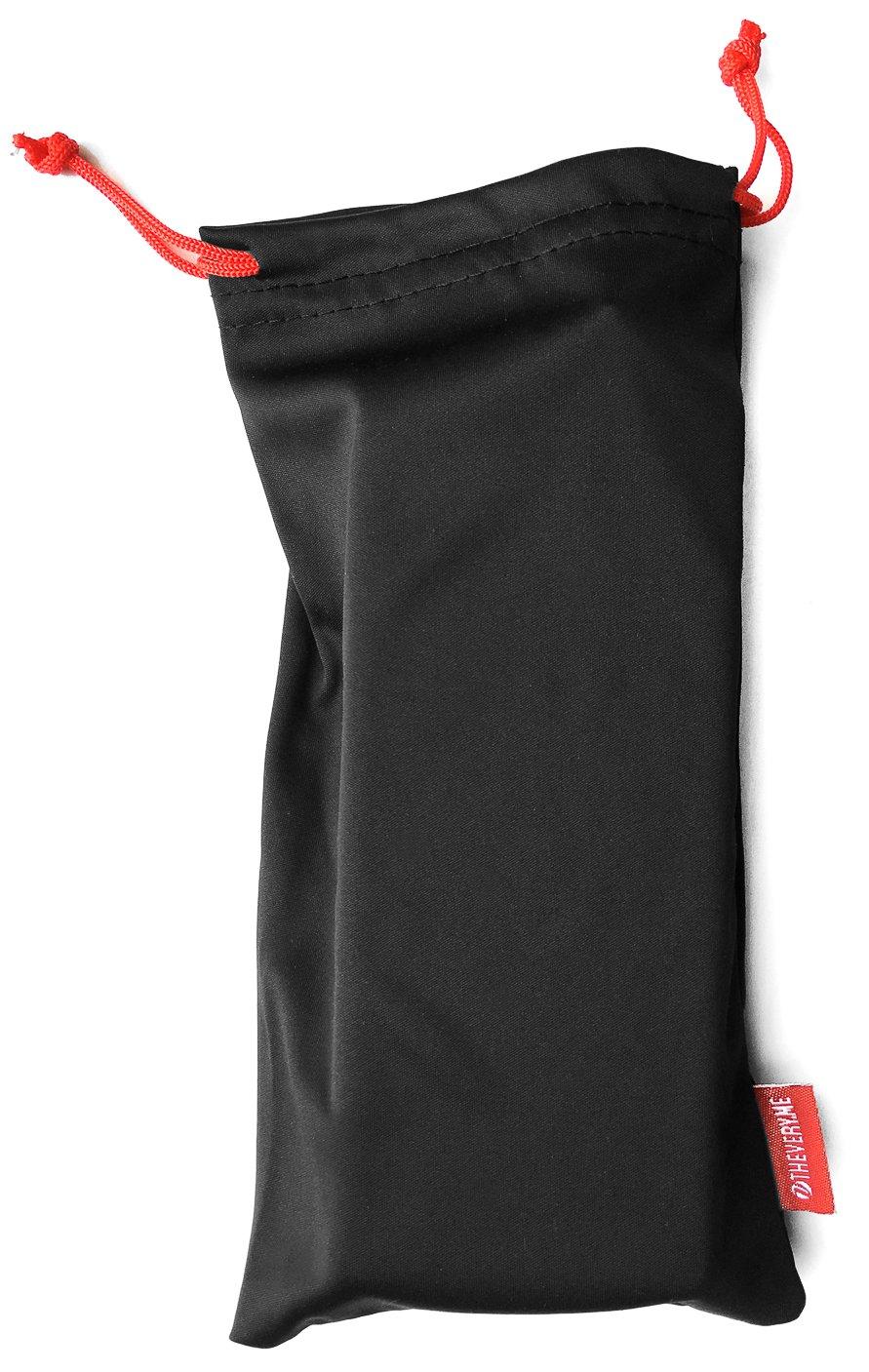 veryme Premium Microfaser Microfibre Beutel Sack Etui Case Tasche Hülle Pouch für Schmuck Brille Handy Smartphone Stifte Kosmetik Netzgerät Kamera Accessoires Zubehör in Schwarz microfaser_sch_rot_11_23-fba