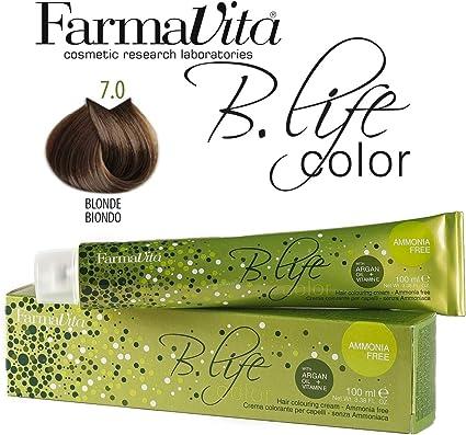 Farmavita Life Color Tinte Capilar sin Amoniaco 7.0-100 ml ...