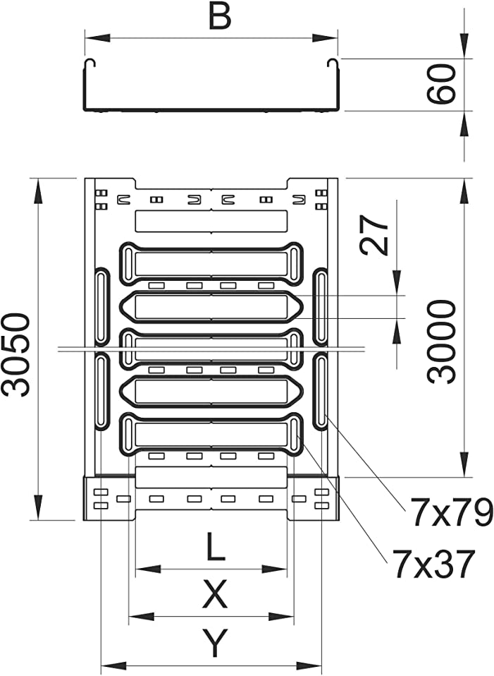 Better Man Cable Tray Mksm 60X200X3050 MM, Tfvz St MKS: Amazon.co.uk ...