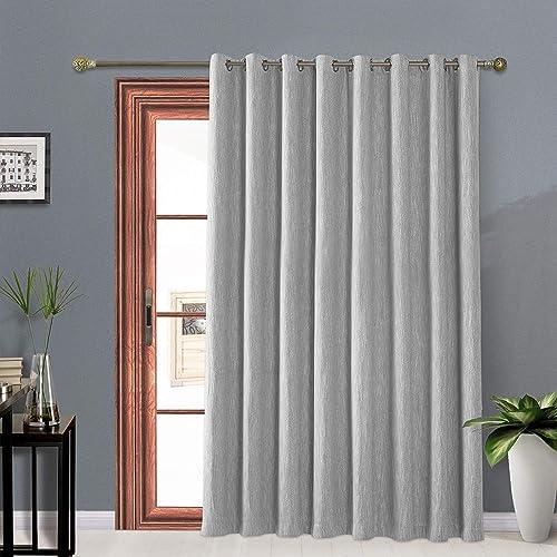 Melodieux Elegant Cotton Blackout Wide Curtains