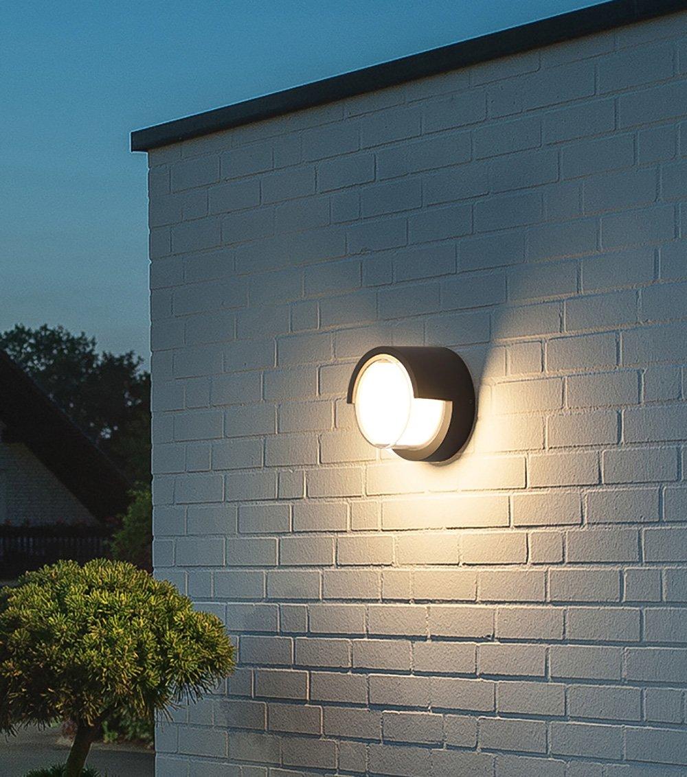 RSGK Lampada Da Parete Per Esterni Lampada Da Parete Per Esterni Balcone LED Semplice Esterno Moderno Lampada Da Parete Impermeabile Luce Porta