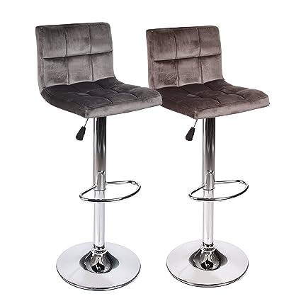 Astonishing Amazon Com Elecwish Bar Counter Stool Adjustable Swivel Machost Co Dining Chair Design Ideas Machostcouk