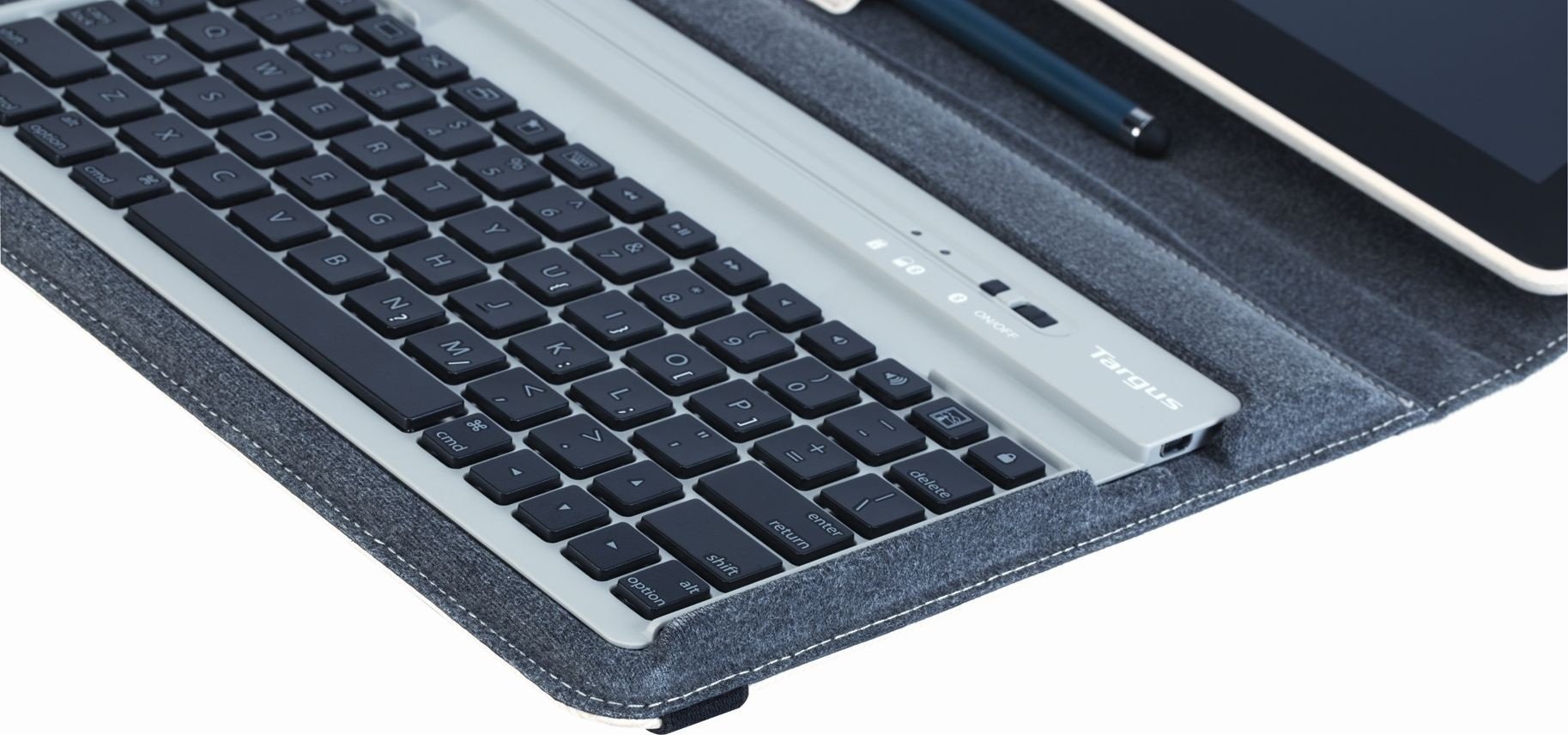 Targus Versavu Rotating Keyboard Case and Stand for iPad 3 and 4, Bone White (THZ171US) by Targus (Image #4)