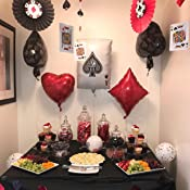 CASINO NIGHT 13pc Party Balloon decorations Anagram SG/_B01DOLSNDM/_US