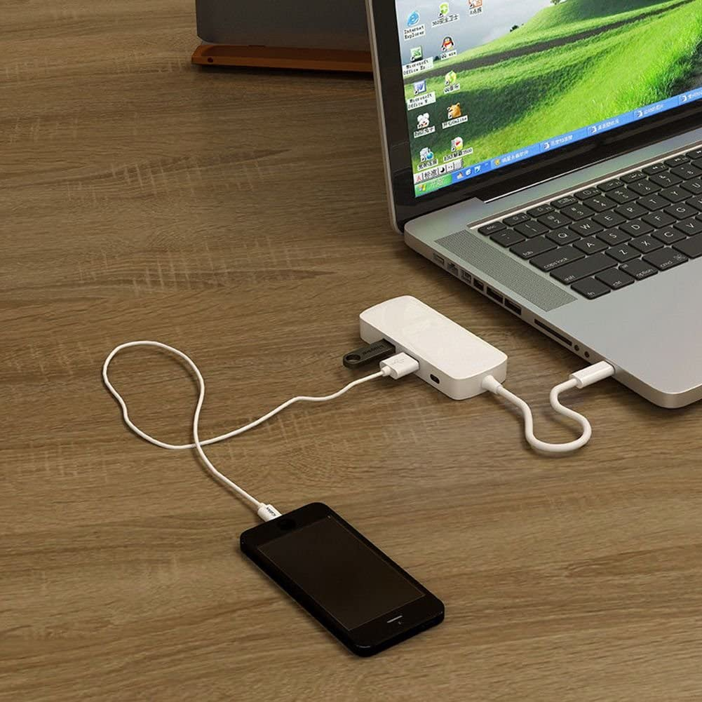 4 in 1 Combo with 2USB3.0 and PD Multi-Function Type C Hub to HDMI Semoic USB C Hub
