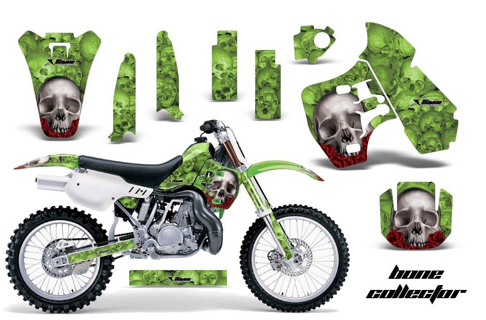 Kawasaki kx500 1988 – 2004 MXダートバイクグラフィックキットステッカーデカールKX 500ボーングリーン   B075NTV87T