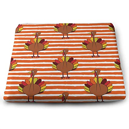 turkey home office fumtc xint thanksgiving turkey home office decoration square seat cushion chair pad amazoncom