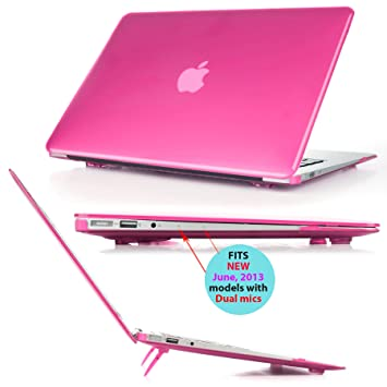 new concept e1276 1c921 iPearl mCover Hard Shell Cover Case with FREE keyboard cover for 13.3-inch  Apple MacBook Air A1369 & A1466 - PINK