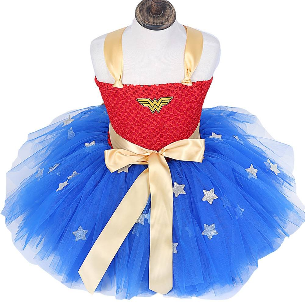 Moon Kitty Girls Captain America Costume Dresses Red by Moon Kitty (Image #3)