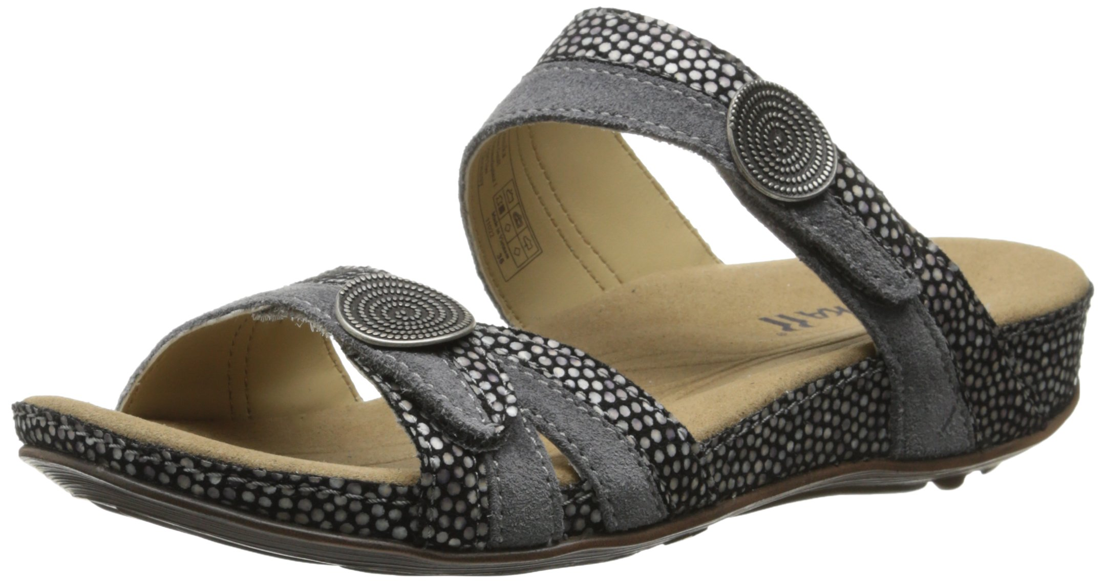 Romika Women's Fidschi 22 dress Sandal, black Kombi, 39 EU/8-8.5 M US