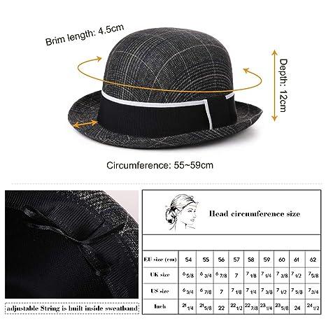 4 Different Crown Styles Trendy Glen Plaid Trilby Hats Homburg Gangsta Fedora Manhattan Derby Hat for Men Lightweight Cloth