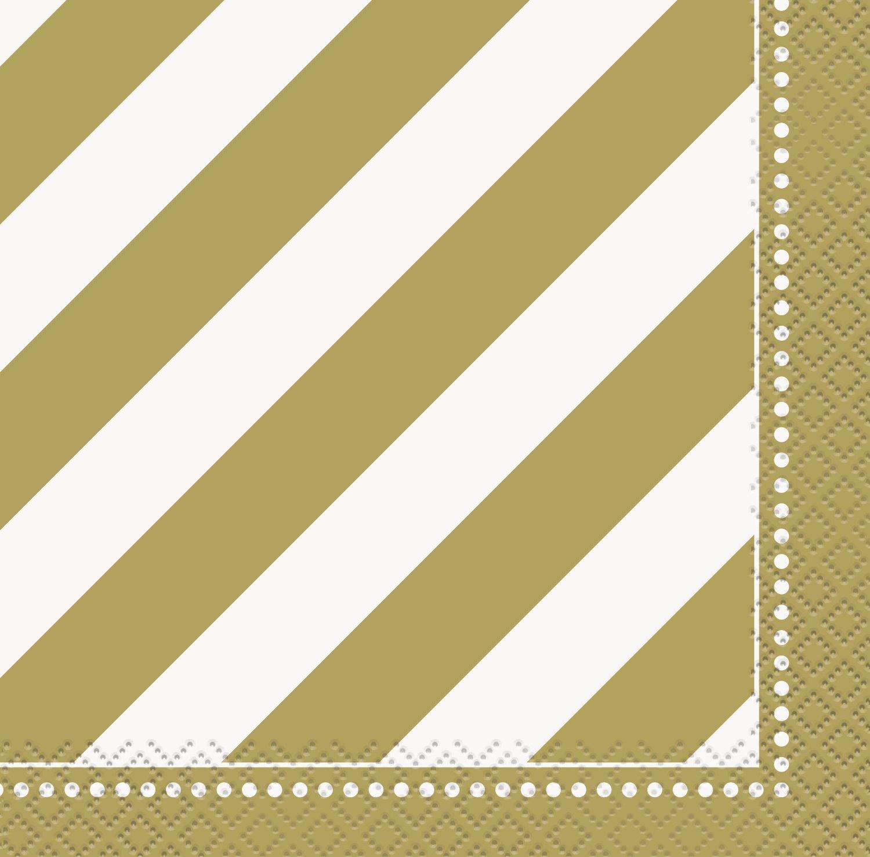 Unique Party 49582 - Tovaglioli di Carta Dorati per Compleanno, Confezione da 16