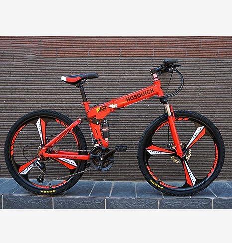 AISHFP Bicicleta de montaña Plegable para Adultos, Bicicletas de para Estudiantes Adolescentes Carreras de Carretera, Ruedas integradas de aleación de magnesio de 26 Pulgadas: Amazon.es: Deportes y aire libre