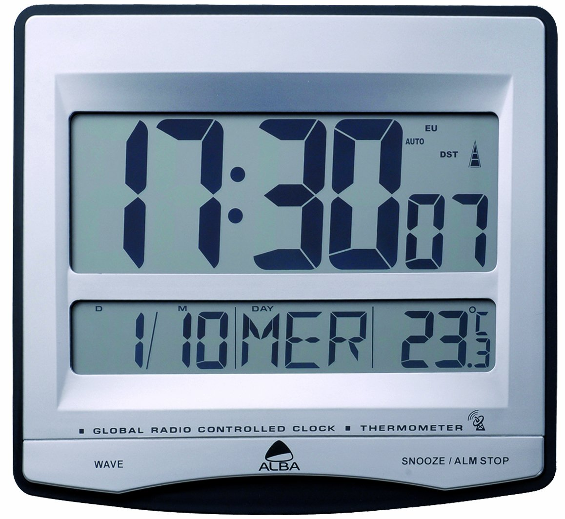 Alba radio controlled clock with alarm amazon office products amipublicfo Choice Image