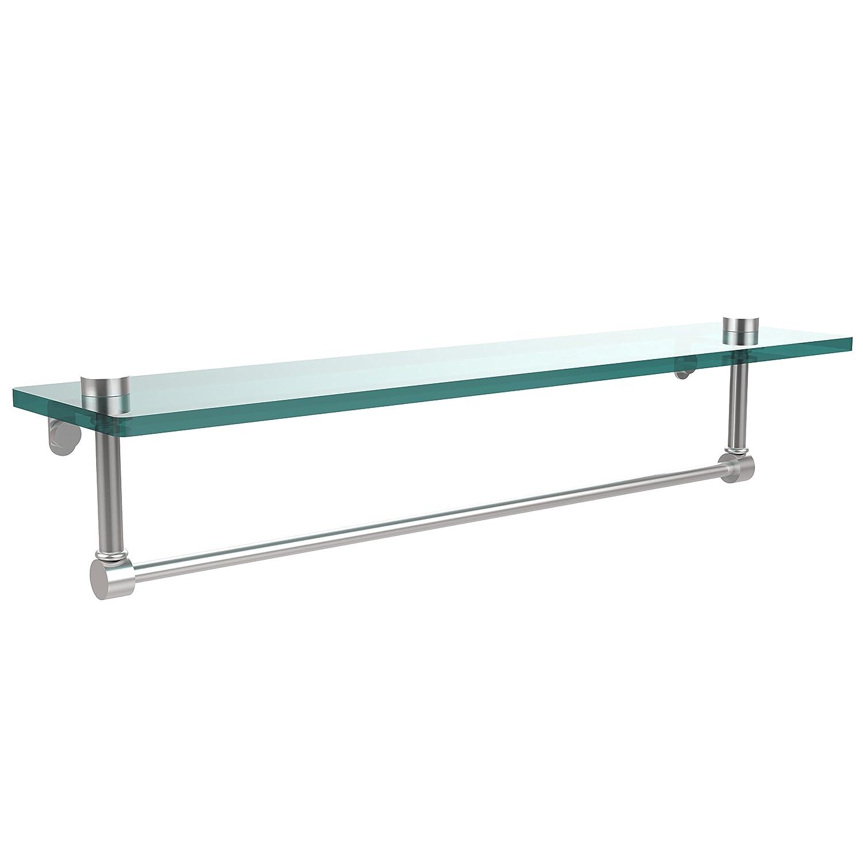 Allied Brass NS-1/22TB-SCH 60cm Glass Shelf with Towel Bar B004J4Q1HO