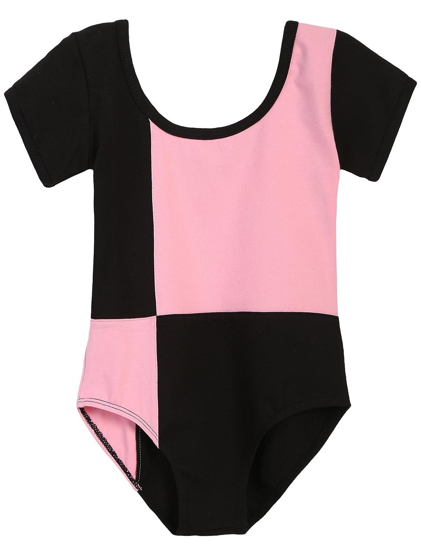 Arshiner Girls' Team Classic Basic Short Sleeve Gymnastics Leotard **AMS005014