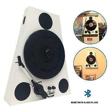 Easygoproducts - Tocadiscos vertical Bluetooth: Amazon.es: Electrónica