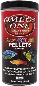 Omega One Super Color Floating Pellets, 3mm Pellets, 6.5 oz