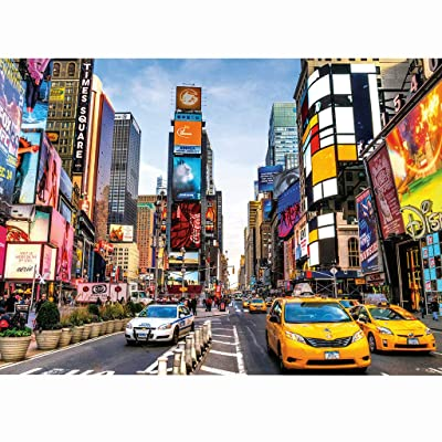 1000 Piece Jigsaw Puzzle for Adults - New York City - Wooden Adults Puzzle Morden Landscape Panoramic Puzzle Toy Personalized Gift Home Decor Adult Children's Educational Game Toys: Sports & Outdoors