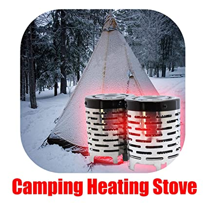 Amazon.com: Junda portátil estufa de Camping Mini tienda de ...