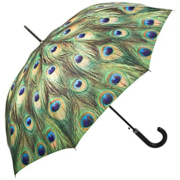 VON LILIENFELD Paraguas Automática Mujer Motivo Pavo Real: Amazon.es: Equipaje