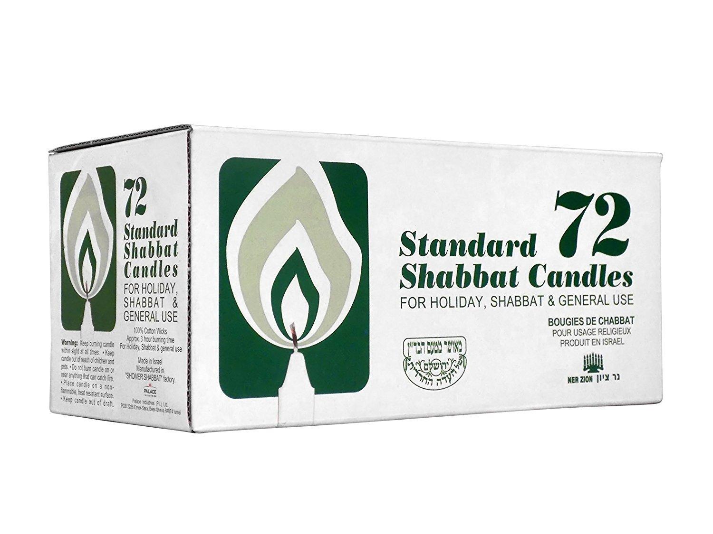 Ner Zion Shabbat Candles Israeli 72 Ct.
