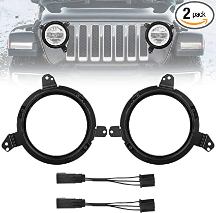 Jeep Wrangler JL 2018-2019 Fog Light Adapter Bracket//Mount
