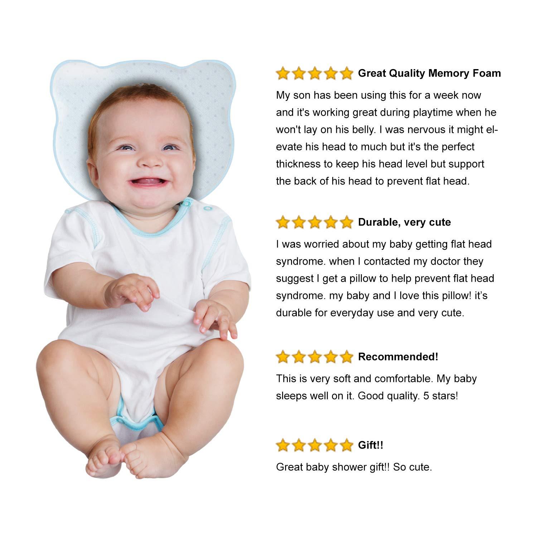 Amazon.com: Bebé de la cabeza dar forma almohada de espuma ...