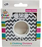 Closet Doodles Gray Chevron Gender Neutral Baby Clothing Dividers Organizer Set of 6 Fits 1.25inch Rod (Ranged Months)
