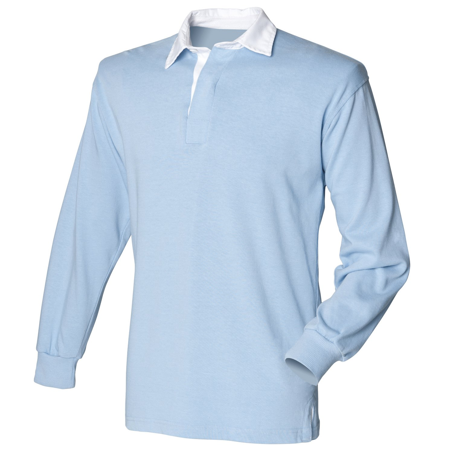 - Front Front Front Row Long sleeve original rugby shirt Sky 2XL f338d9