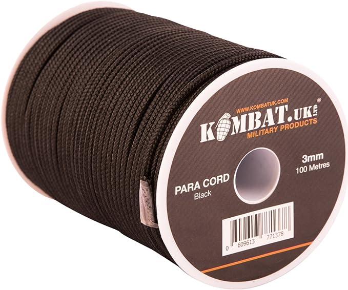Color Negro Kombat UK paraca/ídas/ /Carrete de Pesca 100/m