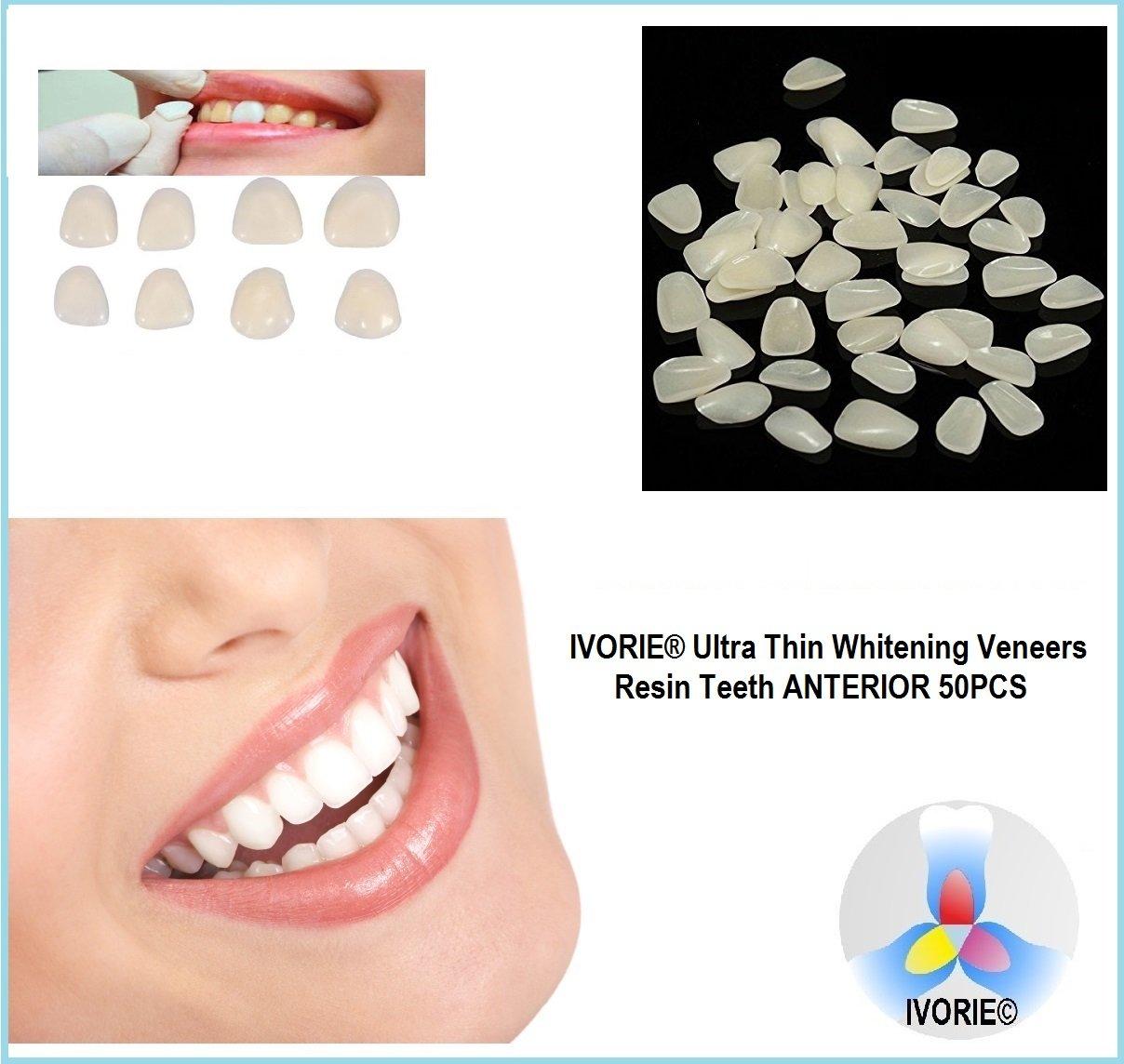 IVORIE Ultra Thin Whitening Veneers Resin Teeth Anterior 50PCS (Shade A2 Upper)